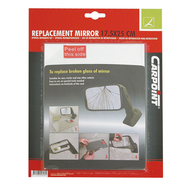 Carpoint Mirror Repair Kit - 17.2cm x 25cm