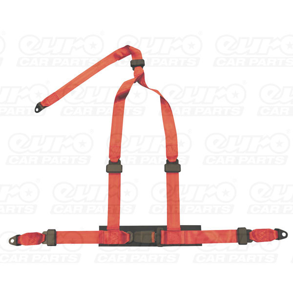 AUTOSTYLE Universal 3point harness red + EMark
