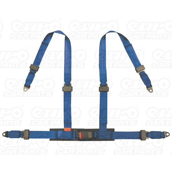 AUTOSTYLE Universal 4point harness blue + EMark