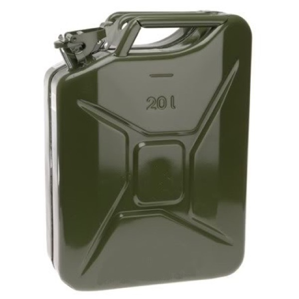 20 Litre Metal Jerry Can Green