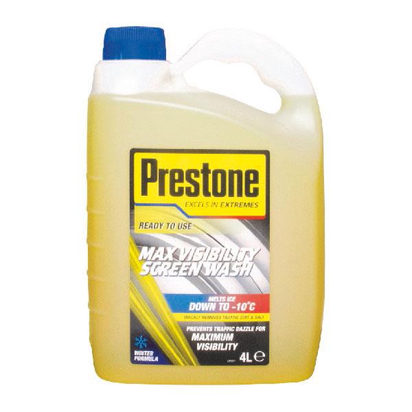 Prestone -10c Ready Mix Screenwash 4Ltrs Winter Season