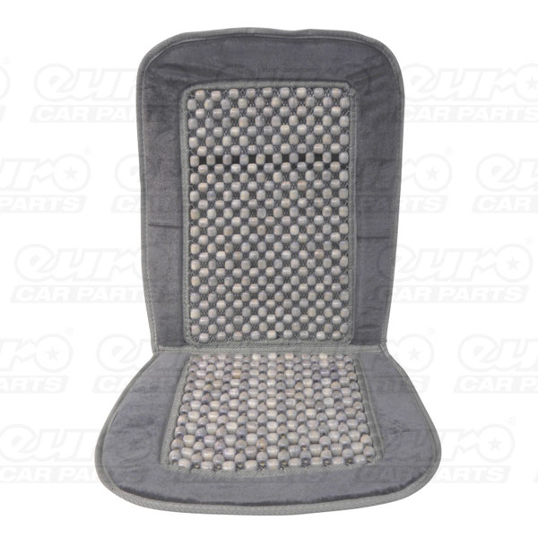 Carpoint Wooden bead seat cover with dark grey border