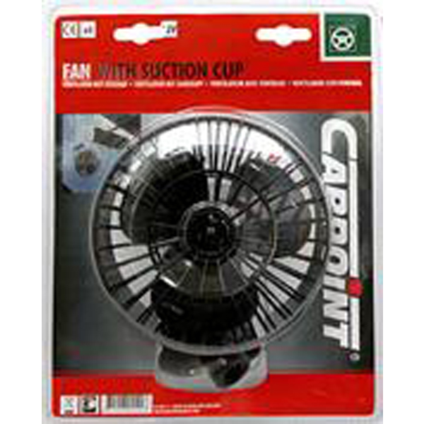 "Carpoint 12 Volt Car Interior 5"" (127mm) Small Cooling Fan with Suction Fixing"
