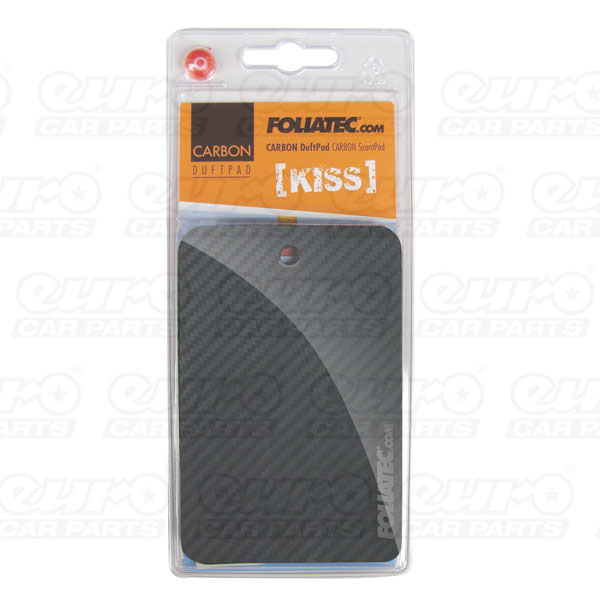 "Foliatec CARBON ScentPad - ""Kiss"", 1 pieces, 3D-Carbon-Structure"