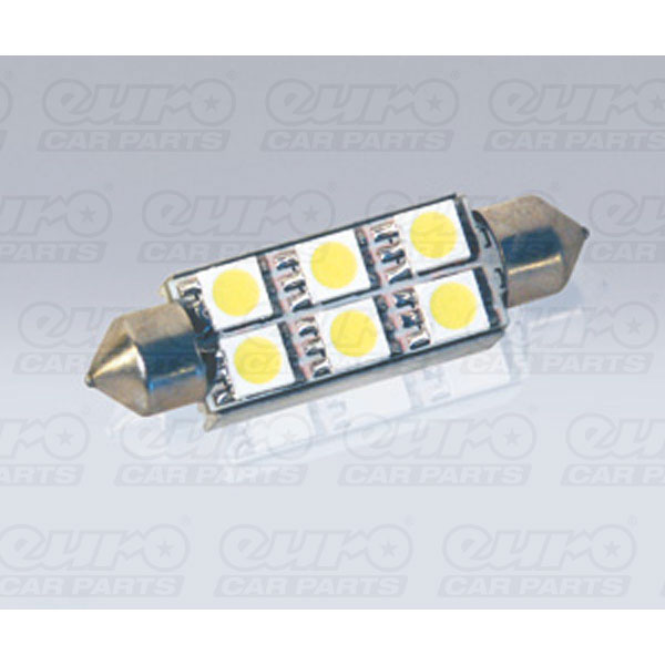 Foliatec SMD-LED Cablight (Festoon), ultra white, with resistor, 6 SMD 1 piece, L = 44 mm