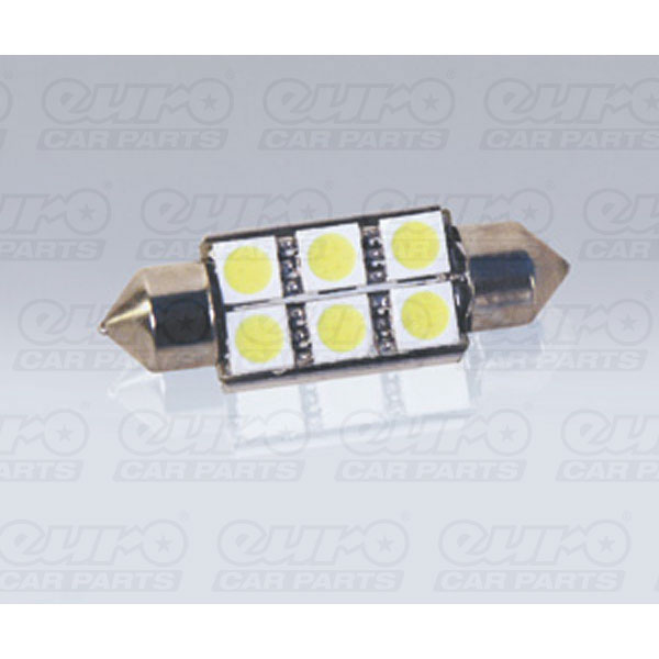 Foliatec SMD-LED Cablight (Festoon), ultra white, with resistor, 6 SMD 1 piece, L = 38 mm