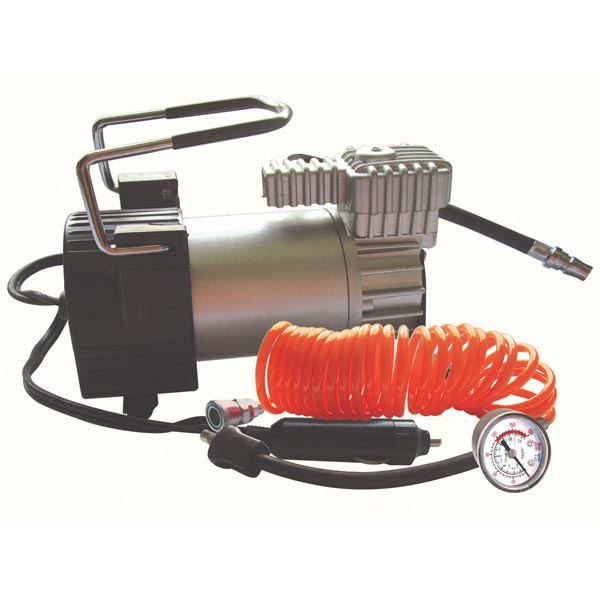 Streetwize Kruga Air Compressor with Orange Lead/Gauge