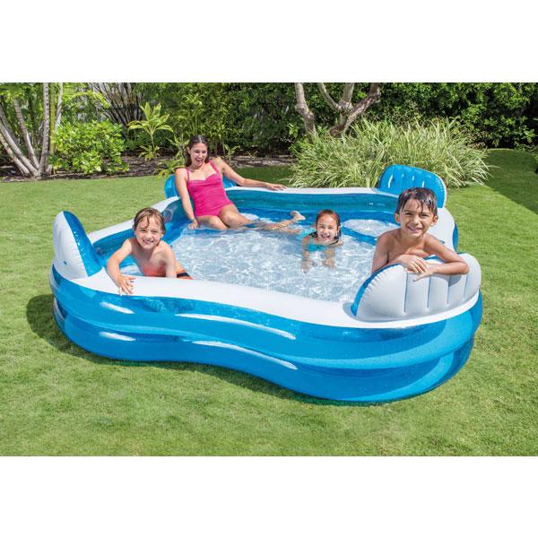 Intex Swim Centre Family Lounge Paddling Pool - 2.29 X 2.29 mtr