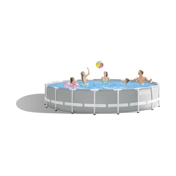 Intex Prism Frame Premium Swimming Pool (Round) - 5.49 mtr x1.22 mtr - AGP