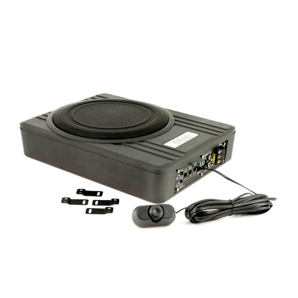 10 inch 'Under-Seat' Subwooferbox active flat - 600 Watt