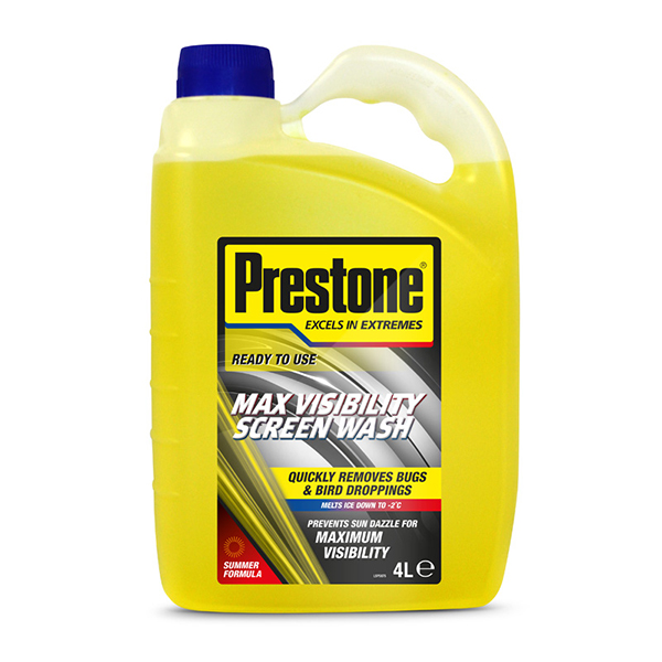 Prestone Ready Mix Screenwash 4Ltrs Summer Season