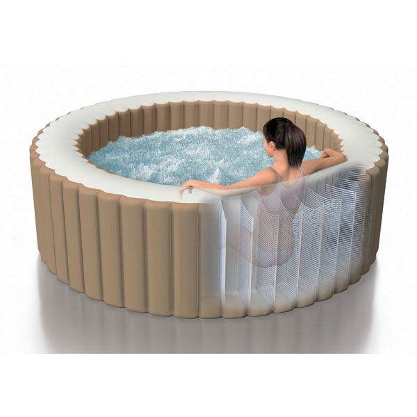Intex Purespa Bubble Round Jacuzzi 6 Person Integrated Pump Cover