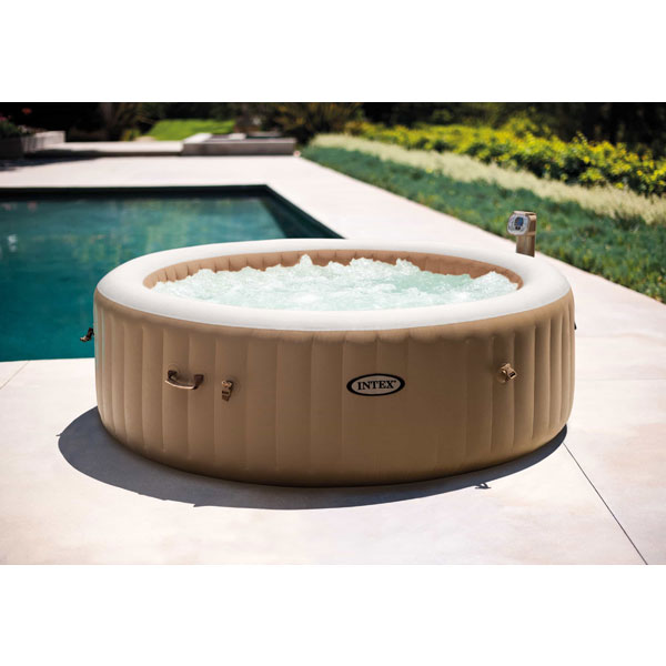 Intex Purespa Bubble Round Jacuzzi (6 Person) Integrated Pump/Cover