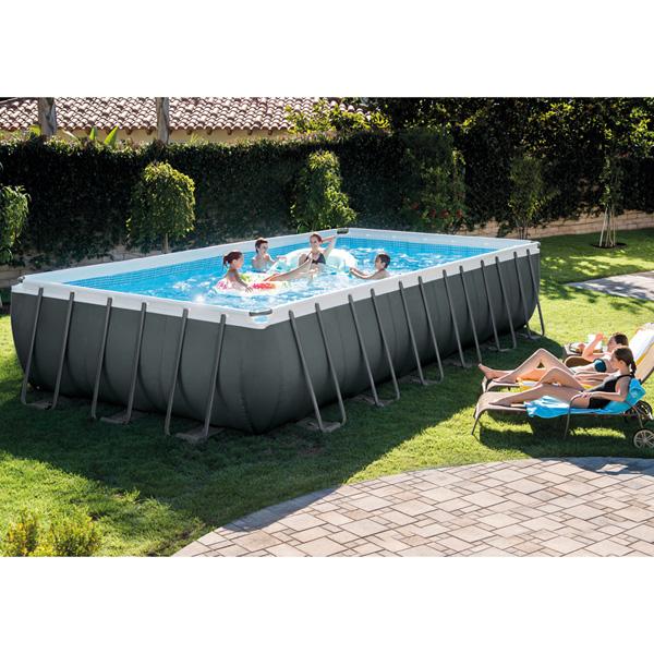 Intex Ultra Metal Frame Swimming Pool (Rectangle) - 7.32 x 3.66 mtr - AGP