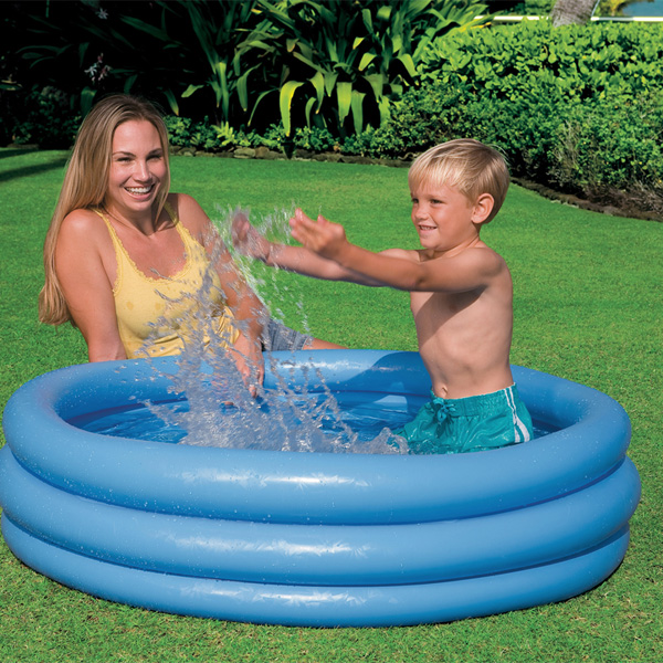 Intex Crystal Blue Three Ring Inflatable Paddling Pool 1.14m x 25cm