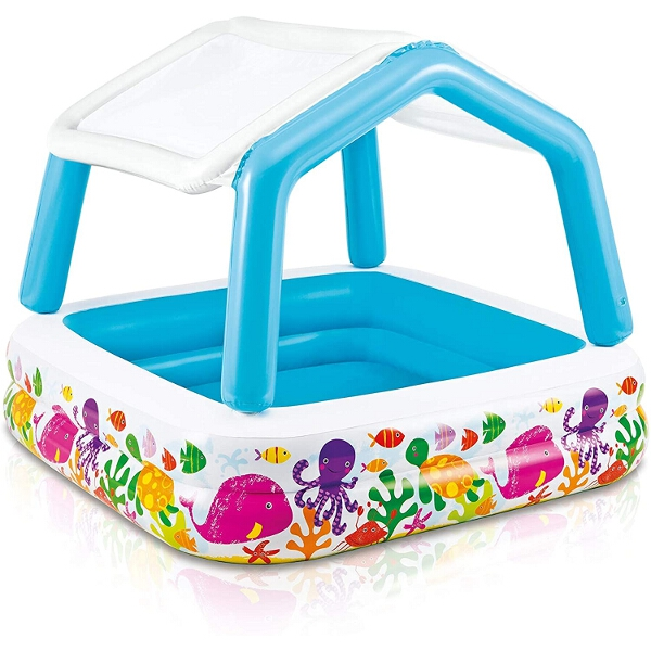 Intex Infant Inflatable Pool With Removable Shade - 1.57 x 1.57 mtr - AGP