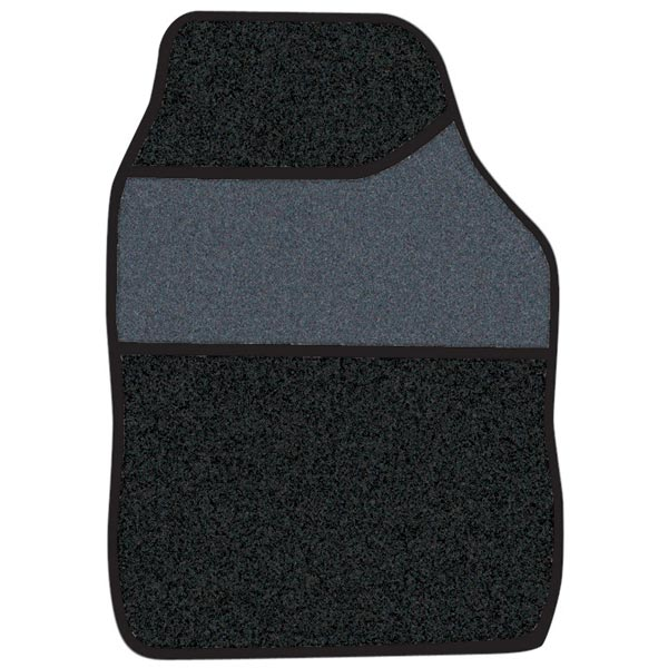 Streetwize 4 pce Carpet Mats Velour Black / Black binding
