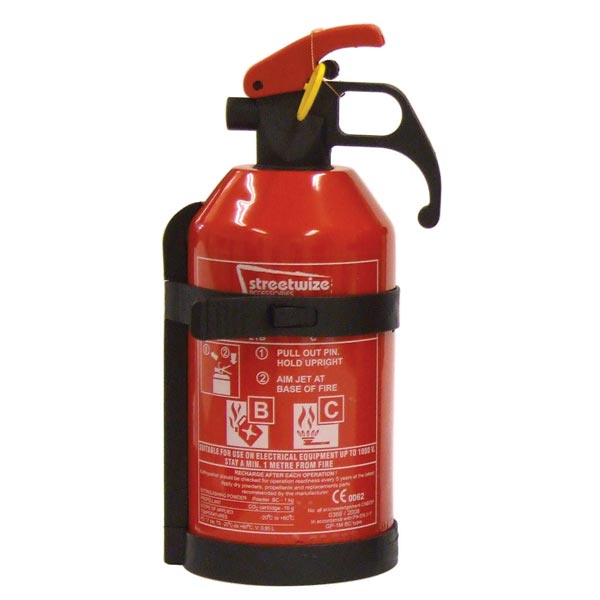 Streetwize Fire Extinguishers  (EN3/CE62 Standard) - 1 kg Dry Powder BC