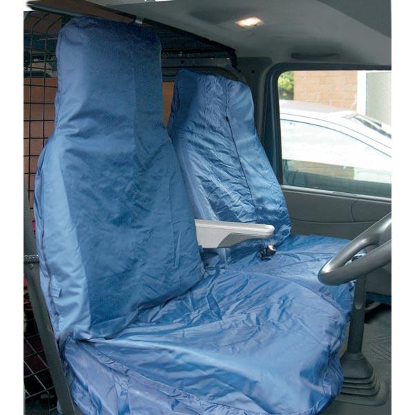 Navy Van Front Universal Single Seat Cover UK Made Dark Blue Waterproof Car