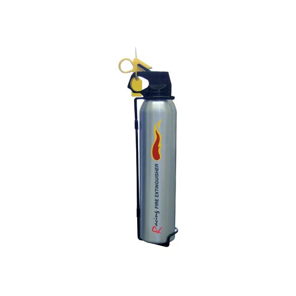 Streetwize Racing Style Fire Extinguisher - 600g ABC Powder With Bracket -  Silver