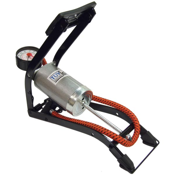 Streetwize De-Luxe Single Cylinder  Foot Pumps (GS Tuv) with 270 Gauge