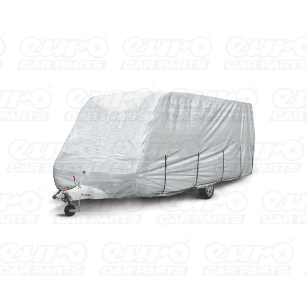Streetwize Medium -14/17ft Caravan Covers- Water Resistant  Breathable in New Silver Materi