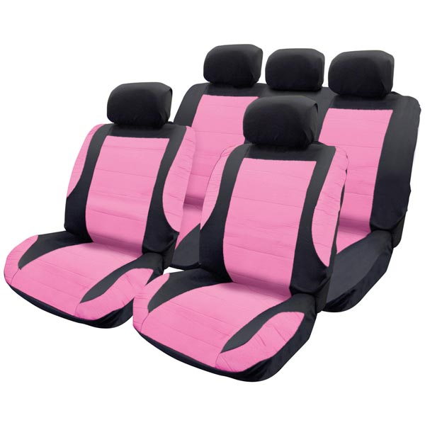 Streetwize Leather Look Xtra Padded Seat Cover Set  - 5 HR Covers, Harness Pads- Wheel Glov
