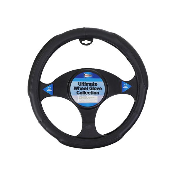 Streetwize Luxury Steering wheel Cover - Black Jumbo Grip
