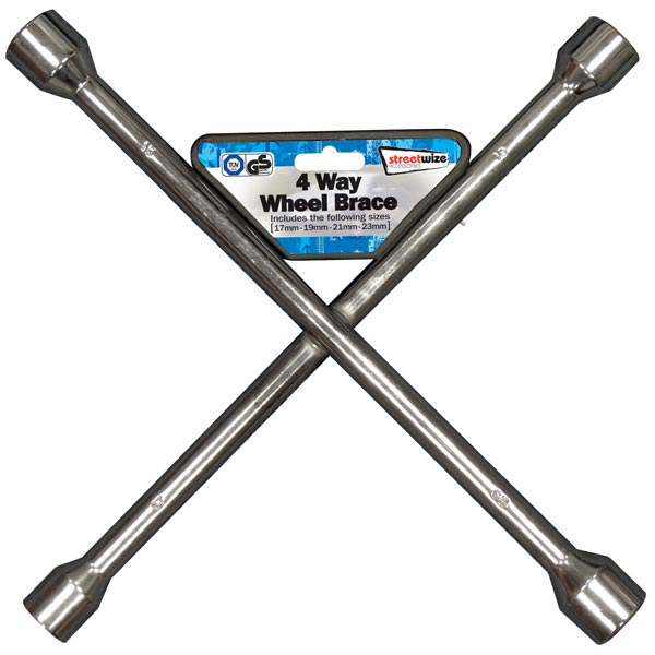 Streetwize Wheel Braces (GS Tuv) - Silver - 17 x19 x 21 x 23 mm