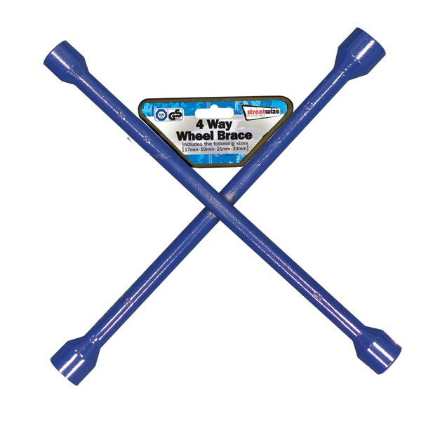 Streetwize Wheel Braces (GS Tuv) - Blue- 17 x 19 x 21 x 23mm