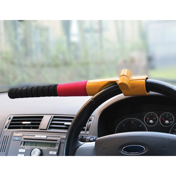 Streetwize Baseball Bat Steering Wheel Lock - Yellow