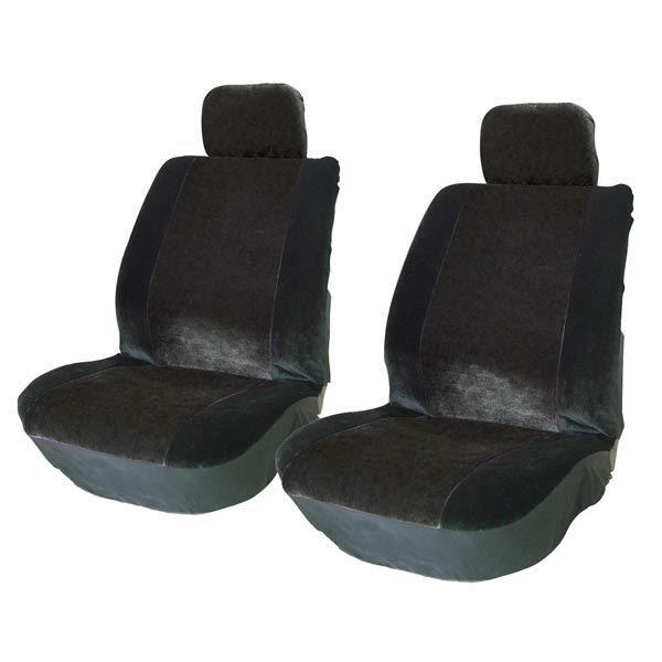 Streetwize Alpha - Front Seat Cover Pairs with 2 Headrest Covers in All Black