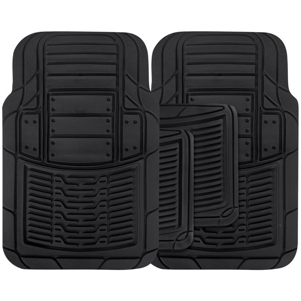 Streetwize 4 piece Rubber Mat Set -  Infinity - Black