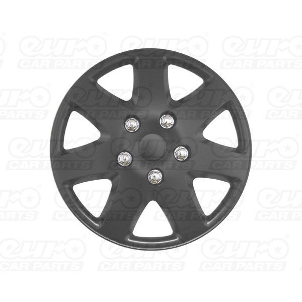 "Streetwize 14""  Tempest  Matt Black Wheel Cover Set"