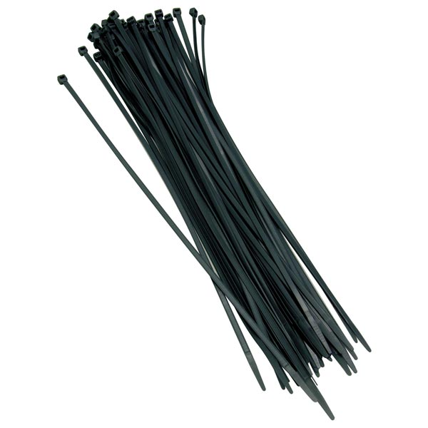 Streetwize Black Cable Ties 100 Ties per bag- Length 360mm x Width 4.7mm