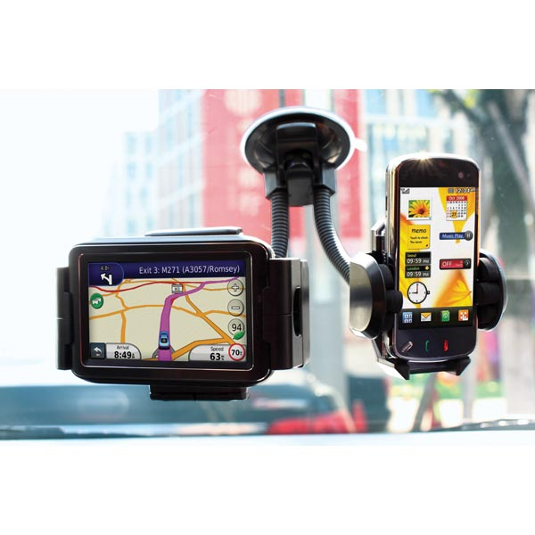Streetwize Twin Mobile Phone & Sat Nav Holder