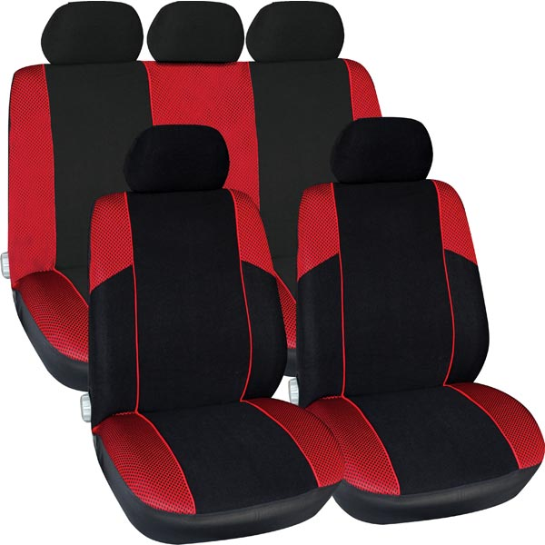 Streetwize Polyester 11 pce Seat Cover Set with Zips in in Red