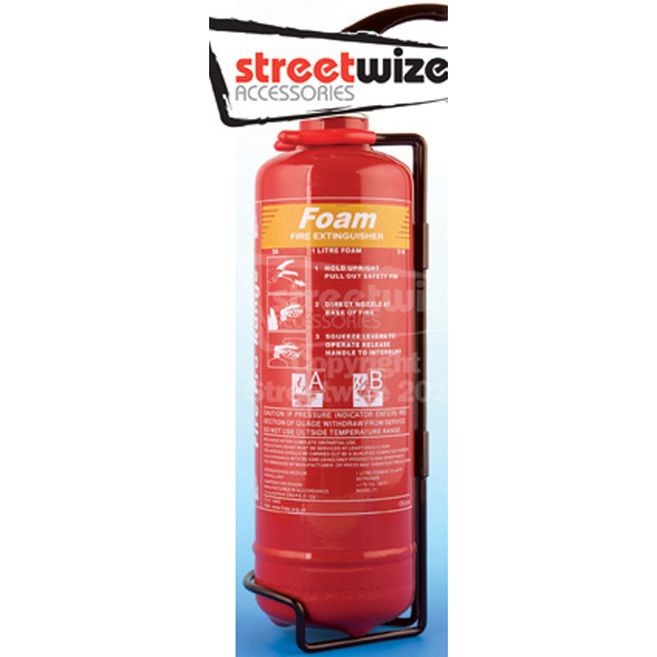 Streetwize Fire Extinguishers  (EN3/CE62 Standard) - 1 Litre AFF Foam Fire Extinguisher
