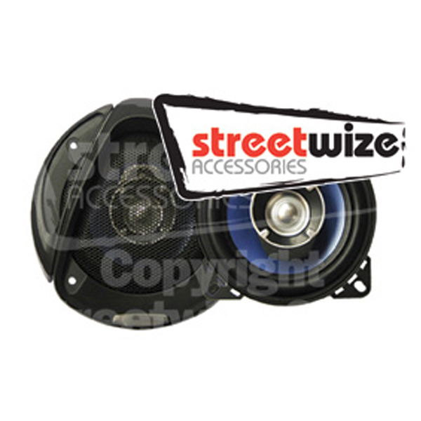"Streetwize Pr 4"" 3 Way 8oz Magnet Speakers"