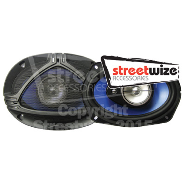 "Streetwize Pr 6x9"" 3 Way 25oz Magnet Speakers"