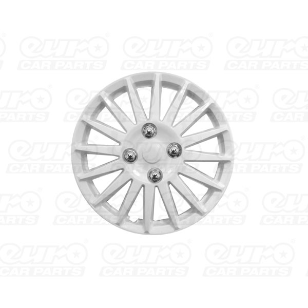 "Streetwize 15"" Lightning White Gloss Sport  Wheel Cover Set"