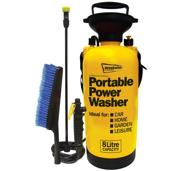 Streetwize Portawasher/Portable Power 8L Sprayer with xtra wash brush