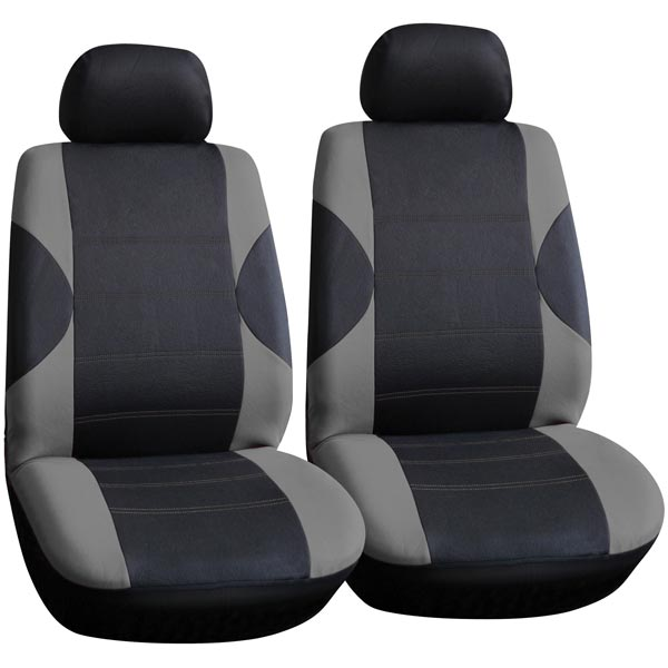 Streetwize 6pc Front Seat Covers Pairs in Grey