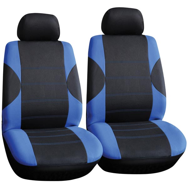 Streetwize Polyester 6 pce Front Seat Covers-Pairs in Blue