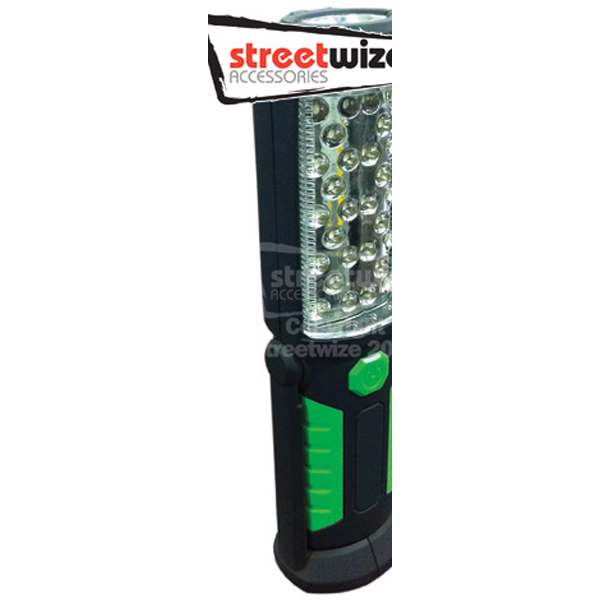 Streetwize 28 + 5  LED Battery Operated Torch with Magnet, Swivel Handle & Hanging Hook