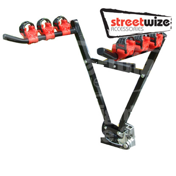 Streetwize 3 Bicycle  Carrier -Towball Fitting