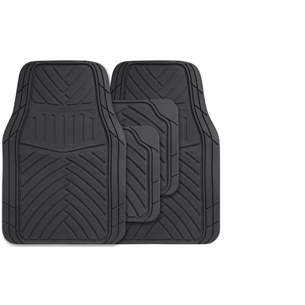 Streetwize 4 piece Rubber Mat Set -  Splendor - Black