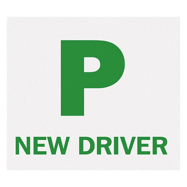 PACK OF 2 MAGNETIC PASSED PASS NEW DRIVER GREEN P PLATE PLATES FOR CAR VEHICLE