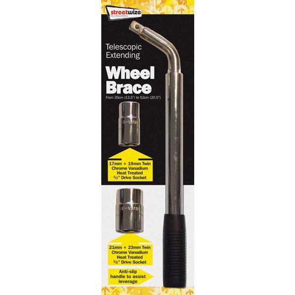 Streetwize Extending Wheel Brace with 2 Sockets
