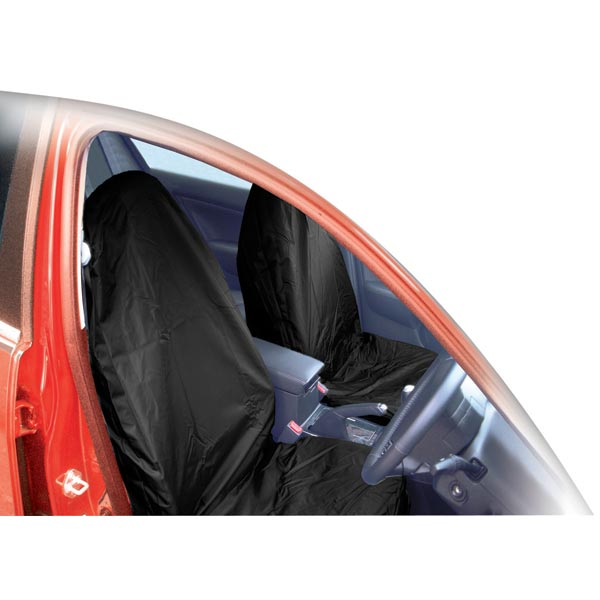 Streetwize Pair Universal Nylon Seat Covers - Black